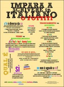 Alcune indicazioni su grammatica, ortografia e punteggiatura italiana