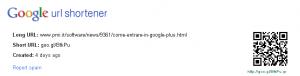 URL shortener di Google