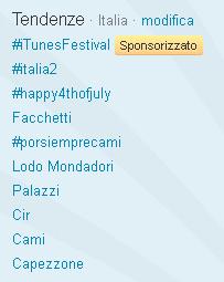 Le tendenze (trending topic) su Twitter