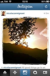 La foto nello stream di Instagram