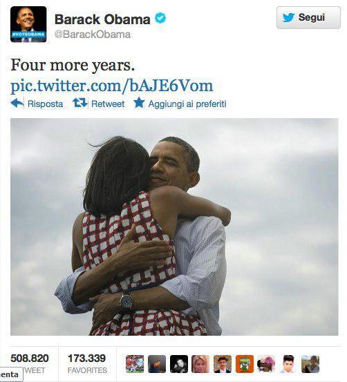 Obama presidente del retweet