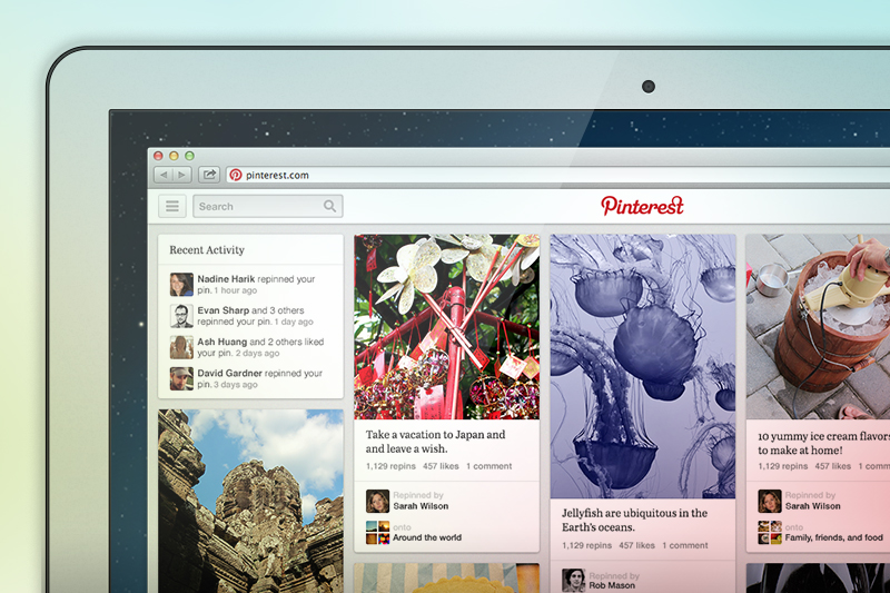 Nuova veste grafica per Pinterest