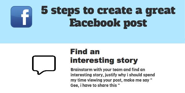Il post perfetto su Facebook in 5 passi [Inforgrafica]