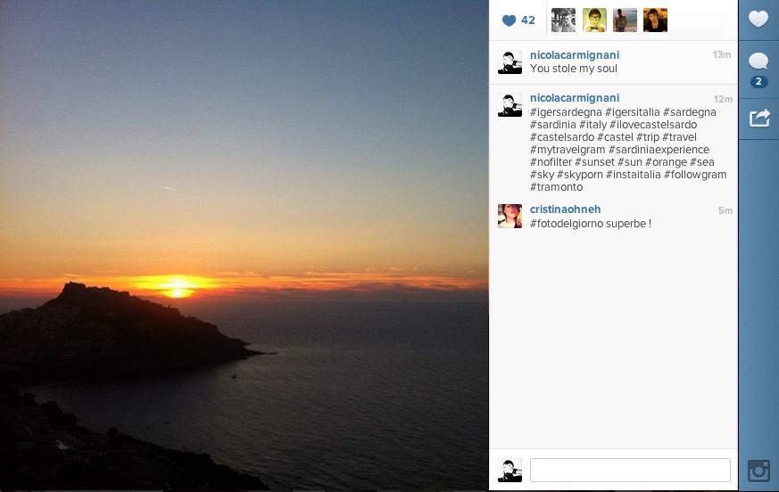 instagram codice html